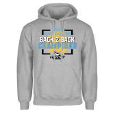 Grey Fleece Hoodie-Stockton University 2021 Volleyball Champs