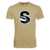 Next Level SoftStyle Khaki T Shirt-Secondary Logo