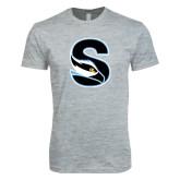Next Level SoftStyle Heather Grey T Shirt-Secondary Logo
