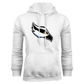White Fleece Hoodie-Osprey Head
