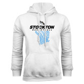 White Fleece Hoodie-Basketball Design