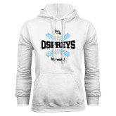 White Fleece Hoodie-Softball Design
