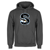 Charcoal Fleece Hoodie-Secondary Logo