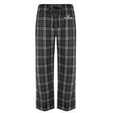 Black/Grey Flannel Pajama Pant-Official Logo