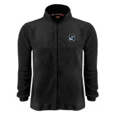 Fleece Full Zip Black Jacket-Secondary Logo