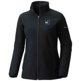 Columbia Ladies Sweet As Black Hooded Jacket-Secondary Logo