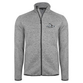 Grey Heather Fleece Jacket-Official Logo