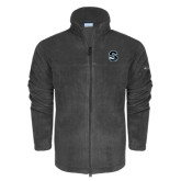 Columbia Full Zip Charcoal Fleece Jacket-Secondary Logo