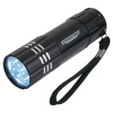 Industrial Triple LED Black Flashlight-Wordmark Engraved