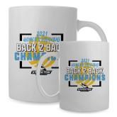 Full Color White Mug 15oz-Stockton University 2021 Volleyball Champs