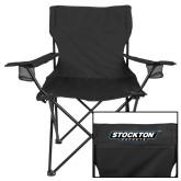 Deluxe Black Captains Chair-Wordmark