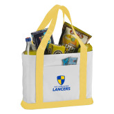 Contender White/Gold Canvas Tote-Primary Logo
