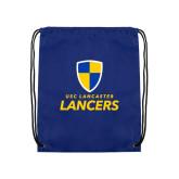 Nylon Royal Drawstring Backpack-Primary Logo
