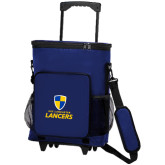 30 Can Blue Rolling Cooler Bag-Primary Logo