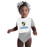 White Baby Bib-Primary Logo