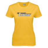 Ladies Gold T Shirt-USC Lancaster Lancers