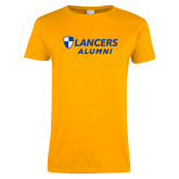 Ladies Gold T Shirt-Alumni