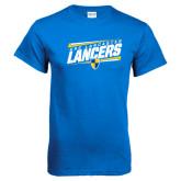 Royal Blue T Shirt-Slanted USC Lancaster Lancers