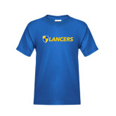 Youth Royal Blue T Shirt-Shield Lancers
