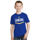 Youth Royal T Shirt-Lancers Baseball Plate