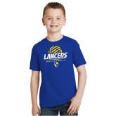 Youth Royal Blue T Shirt-Lancers Volleyball Half Ball
