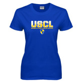 Ladies Royal T-Shirt-USCL Stencil Texture