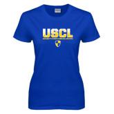 Ladies Royal T Shirt-USCL Stencil Texture