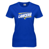 Ladies Royal T Shirt-Slanted USC Lancaster Lancers