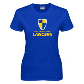 Ladies Royal T-Shirt-Primary Logo Distressed
