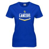 Ladies Royal T-Shirt-Lancers Baseball Plate