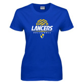 Ladies Royal T Shirt-Lancers Volleyball Half Ball