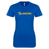 Next Level Ladies SoftStyle Junior Fitted Royal Tee-Shield Lancers
