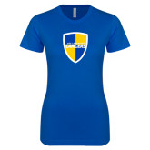 Next Level Ladies SoftStyle Junior Fitted Royal Tee-Shield
