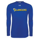 Under Armour Royal Long Sleeve Tech Tee-Shield Lancers