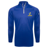 Under Armour Royal Tech 1/4 Zip Performance Shirt-Primary Logo