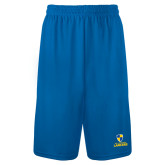 Performance Royal 9 Inch Length Shorts-Primary Logo