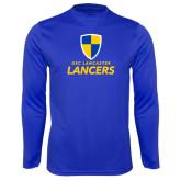 Syntrel Performance Royal Longsleeve Shirt-Primary Logo