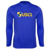 Syntrel Performance Royal Longsleeve Shirt-Shield USCL