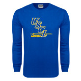 Royal Long Sleeve T Shirt-USCL Lancers