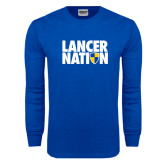 Royal Long Sleeve T Shirt-Lancer Nation