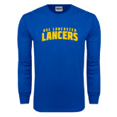 Royal Long Sleeve T Shirt-Arched USC Lancaster Lancers