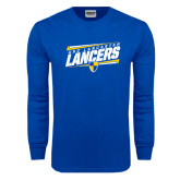 Royal Long Sleeve T Shirt-Slanted USC Lancaster Lancers