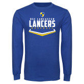 Royal Long Sleeve T Shirt-Lancers Baseball Plate