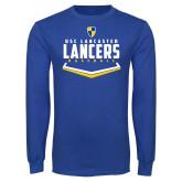 Royal Long Sleeve T Shirt-Lancers Baseball Plate