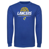 Royal Long Sleeve T Shirt-Lancers Volleyball Half Ball