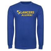 Royal Long Sleeve T Shirt-Alumni