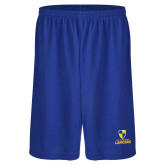 Midcourt Performance Royal 9 Inch Game Short-Primary Logo