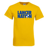 Gold T Shirt-Lancer Nation