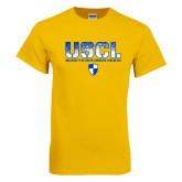 Gold T Shirt-USCL Stencil Texture