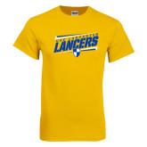 Gold T Shirt-Slanted USC Lancaster Lancers